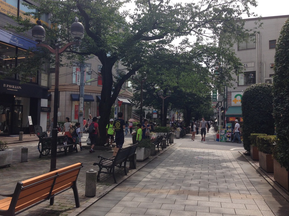 Beautiful square in Jiyugaoka, surrounded by designer stores and cafes.