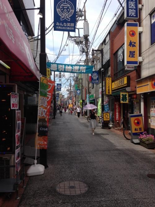 Bustling alley near Okayama Station.