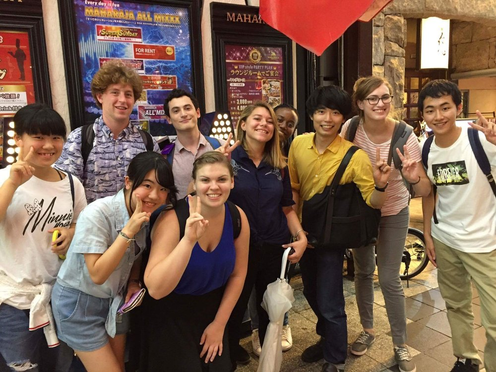 Some of the crew - a mix of Japanese students, US interns, and Japanese university staff.