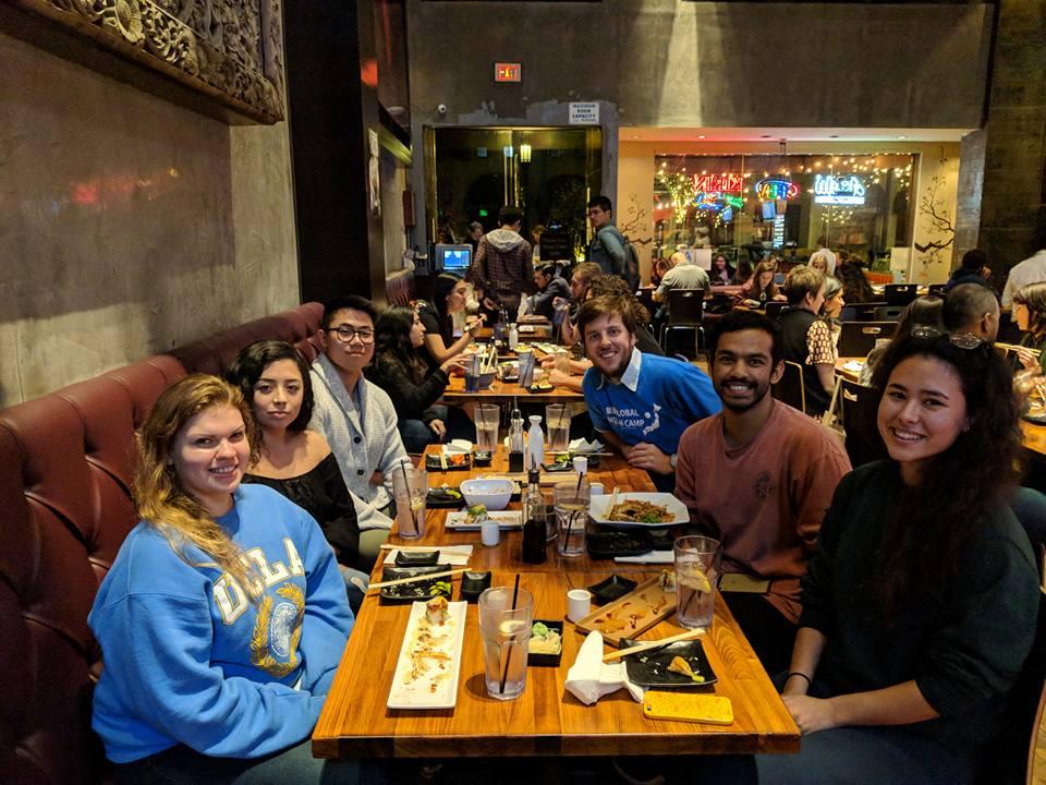 UCLA alumni dinner.