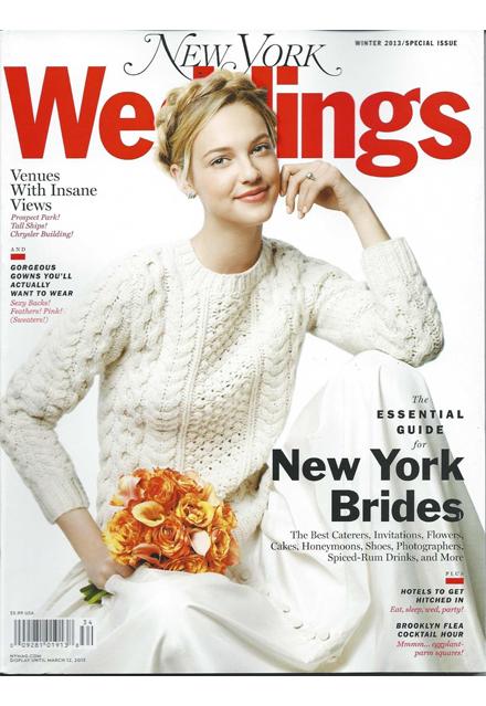 New York Weddings Magazine Winter 2013 Editorial List