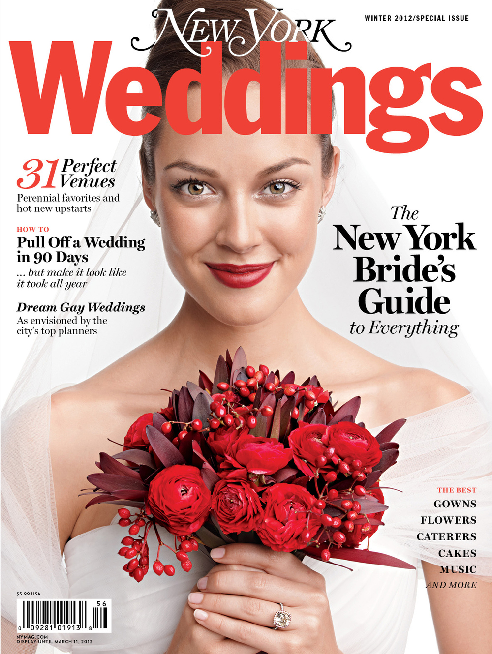 New York Weddings Magazine Winter 2012 Editorial List and Feature