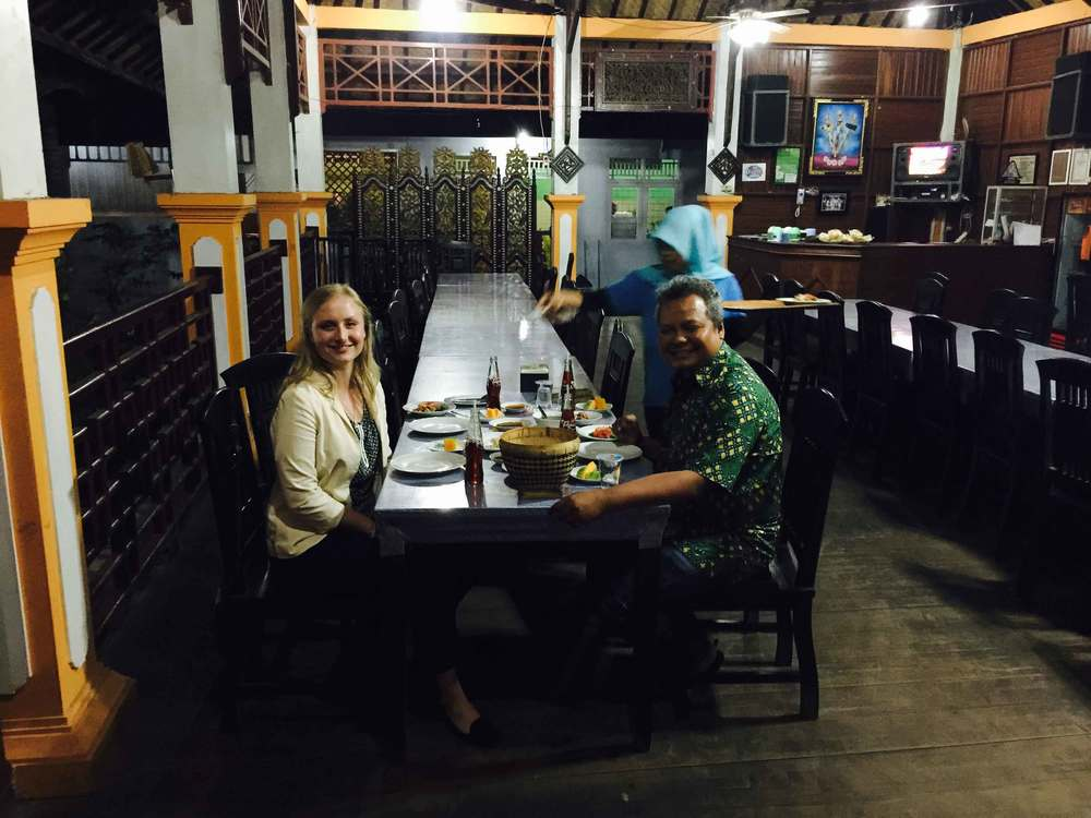 Amazing Lombok dinner with professor Hayyan Ul Haq.
