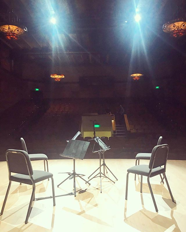 We were honored to play on the Darius Milhaud Concert Series last night at @millscollege @millsmusicnow - quartets by Milhaud, Ruth Crawford and Igor Stravinsky #stringquartets #concertstage #millscollege