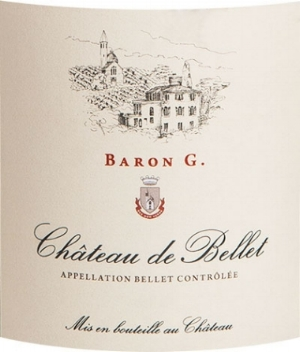 Château de Bellet  'Baron G' Bellet : Rolle (95%) + Chardonnay (5%) + Grenache (25%). Aromas of cedar, toasted oak, honey, grapefruit. Established in 1777 by the Barons of Bellet, enjoyed by Thomas Jefferson.