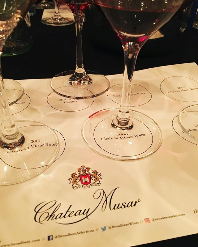 No better way to start a #Wednesday than a fabulous @chateaumusar #winetasting at The Barrel Room! #wine #wineoclock #whatweredrinkingtonight #winetime #lebanesewine #winelover #besttastingever #winemakesushappy
