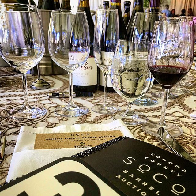 auction time! • #sonomabarrelauction #winelover #wine #sonomastrong #drinkup #winetasting #winetime #damngoodwine