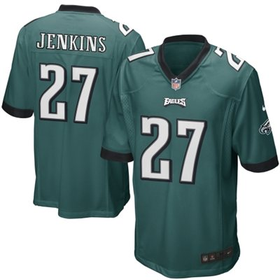 Mens Philadelphia Eagles Malcolm Jenkins Nike Midnight Green Game Jersey     $99.95