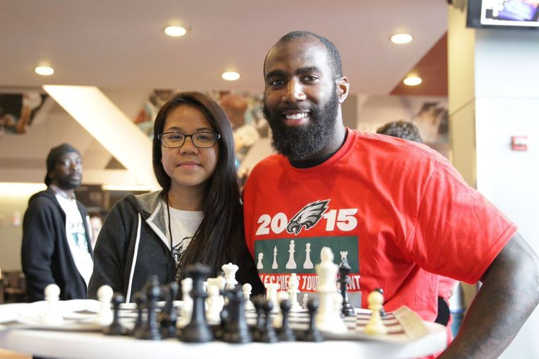 - Philadelphia Eagles standouts free safety Malcolm Jenkins and linebacker Brandon Graham participated in the Eagles Youth Partnership, After School Activities Partnerships as they hosted the 12th annual on Tuesday in the Panasonic Club at Lincoln Financial Field. Jenkins and Graham had a chance to play chess against a number of Philadelphia's outstanding young chess players.