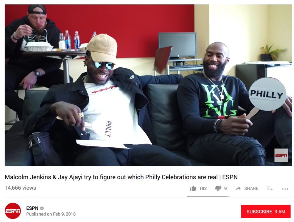 ESPN Real or Fake -  Philadelphia Eagles players Malcolm Jenkins and Jay Ajayi play a game of