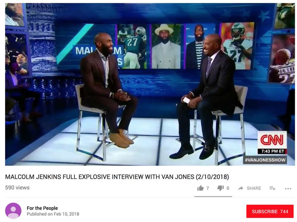 CNN w/ Van Jones - MALCOLM JENKINS FULL EXPLOSIVE INTERVIEW WITH VAN JONES (2/10/2018)