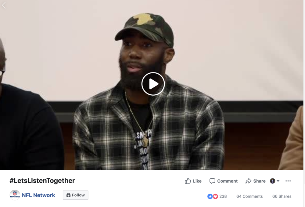 Loving Somebody Different Than You - Philadelphia Eagles WR Torrey Smith and teammates Malcolm Jenkins - NFL Defensive Back and Rodney McLeod hosted a screening of Walking While Black - The Movie and panel discussion about improving community and police relations at Temple University Beasley School of Law. #LetsListenTogether