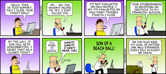 Customer Service - Dilbert