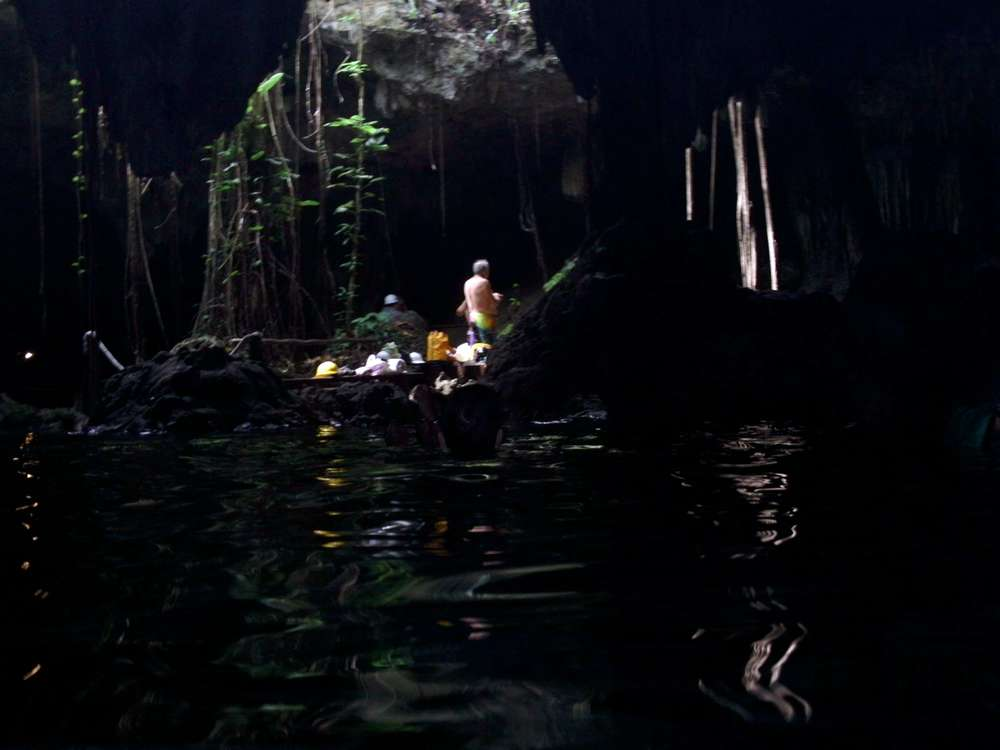 snorkeling in Chaak Tun cenote