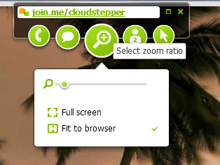 Join.Me participant - adjust local screen view