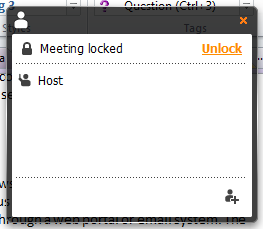 Join.Me unlock a meeting