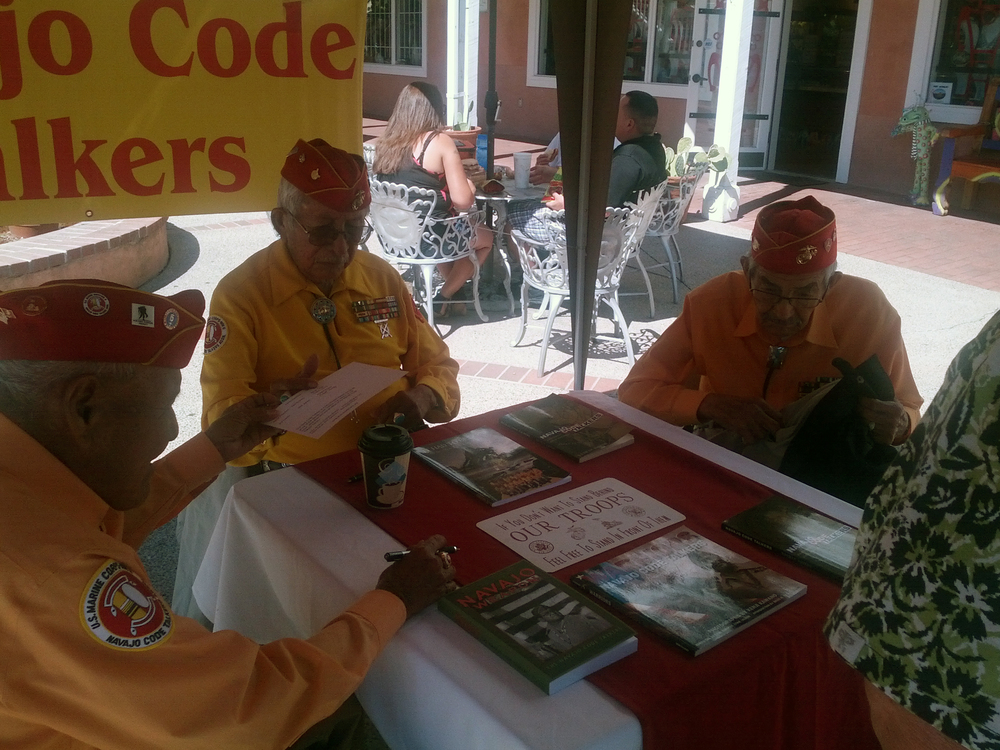 2013-09-20 Old Town Albuquerque (13) got to meet three of the remaining Navajo Code Talkers.jpg