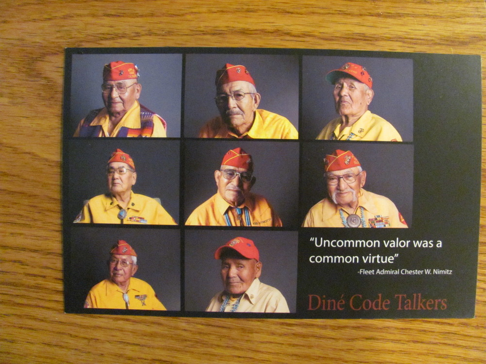2013-09-20 Old Town Albuquerque, met three of the remaining Navajo Code Talkers (2).JPG