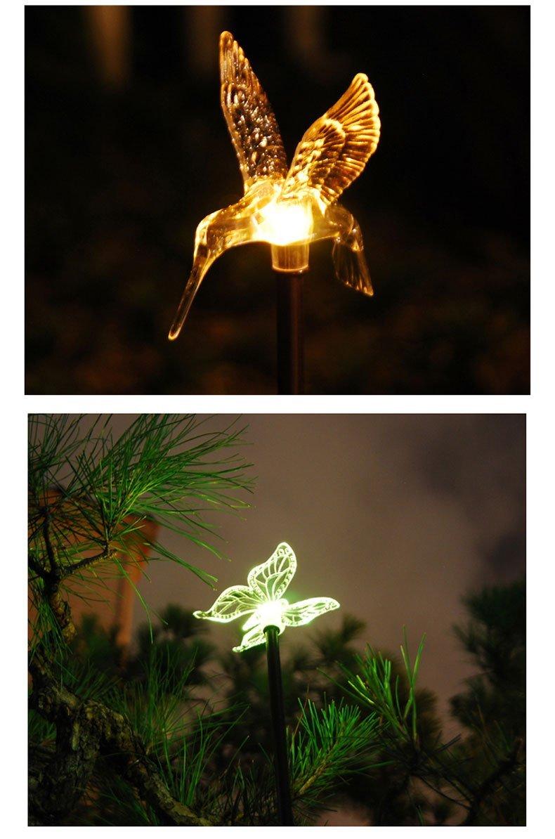 Esky Solar Powered Outdoor Hummingbird, Butterfly & Dragonfly Solar Garden Stake Light 4.jpg