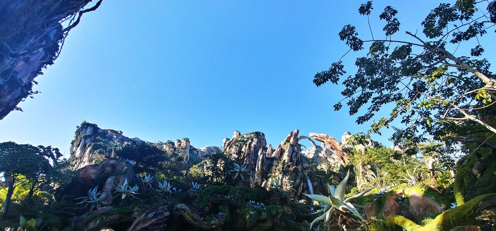 I love how Disney constructed the mountains with perspective to make them appear to be enormous and very far away.