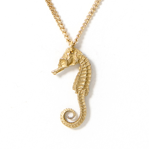 Seahorse necklace bronze ready to ship lady faye jewelry seahorse necklace bronze ready to ship aloadofball Image collections