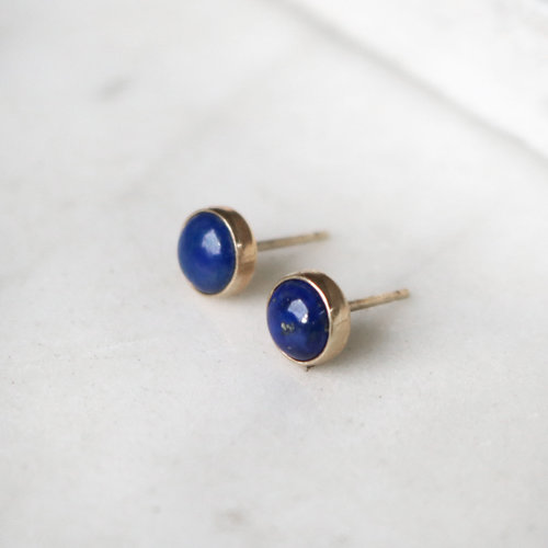 earring silver me blue plated mistral earrings rhodium oval gemstone encanta lapis stud design