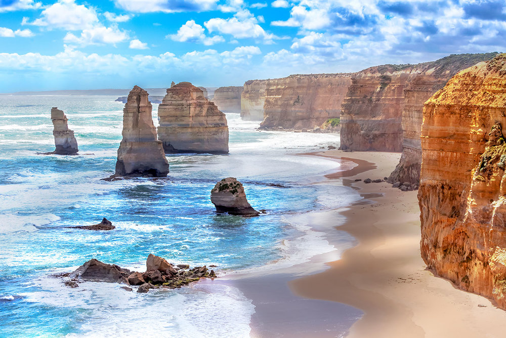 Twelve Apostles along the Great Ocean Road, Victoria, Australia