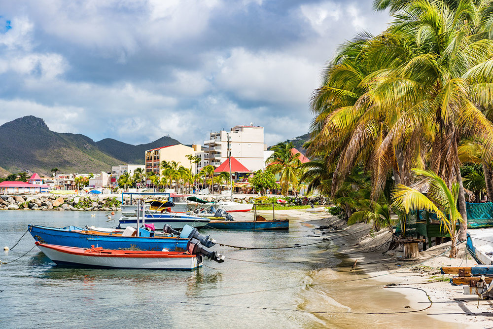 Philipsburg on the dutch Antilles side of St Maarten Saint Martin