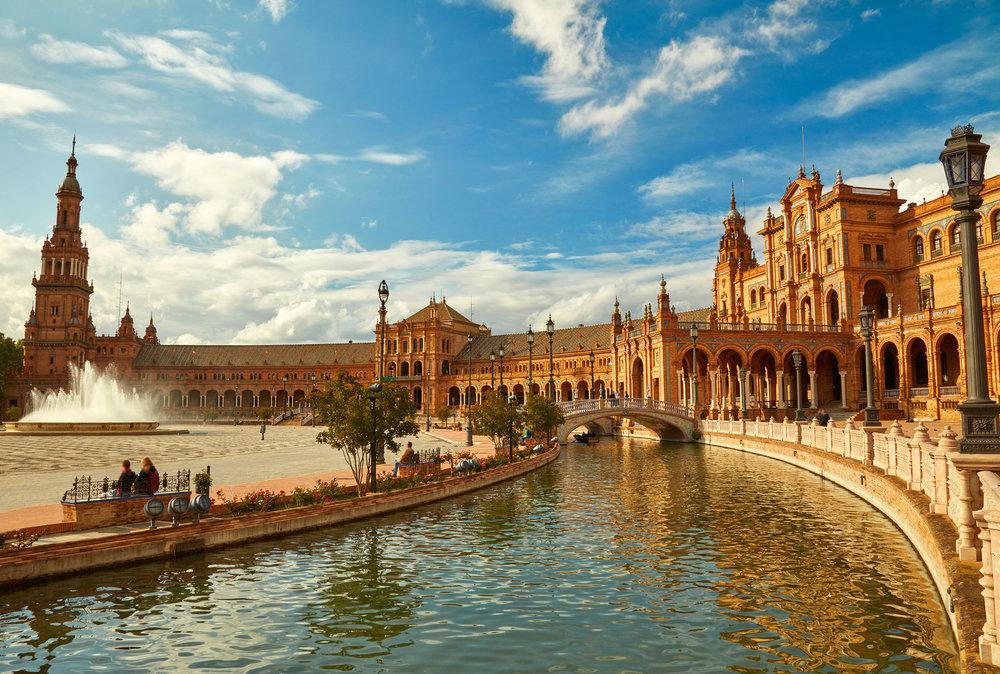 Spain Square (Plaza de Espana). Seville, Spain