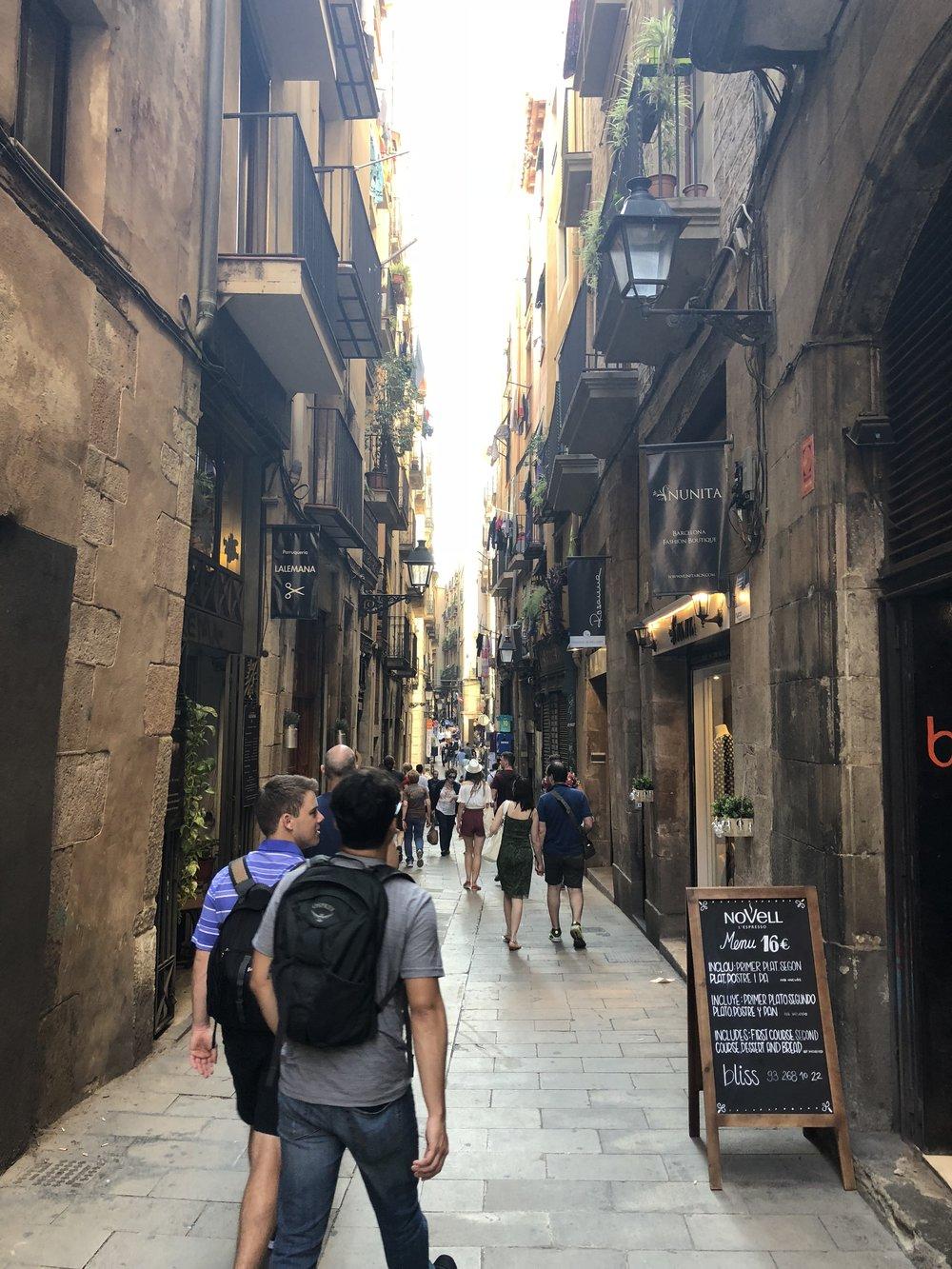 Gothis Quarter, Barcelona, Spain