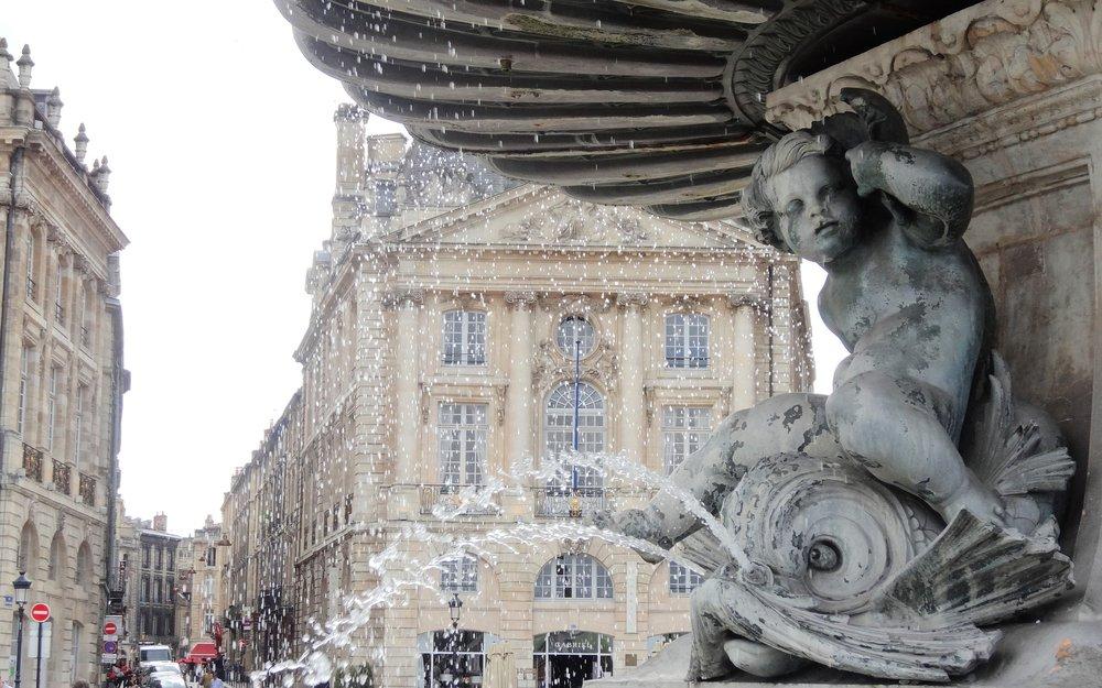 Fountain in Bordeaux, France