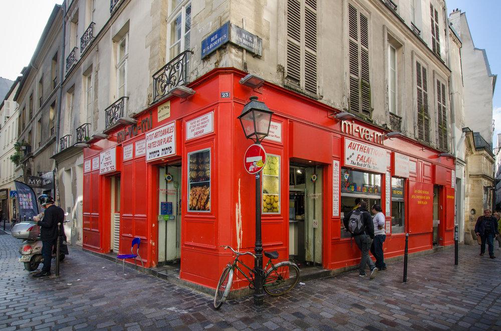 Rue des Rosiers, Marais, Paris, France