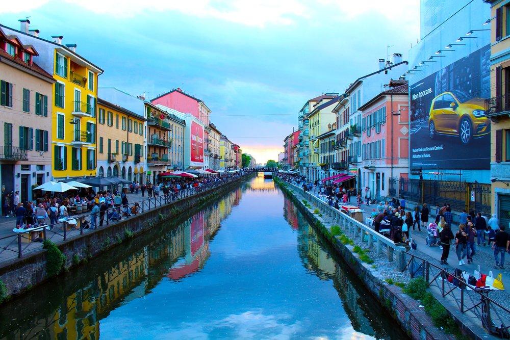 Navigli district, Milan, Italy