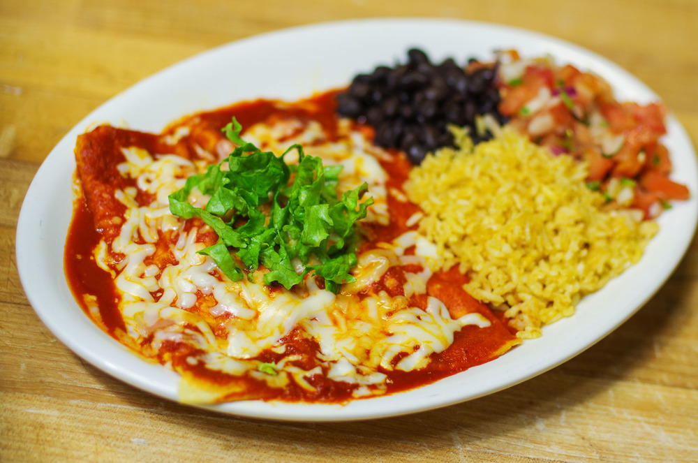 Saturday Enchilada Plate