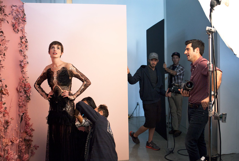 Behind the scenes from various photo shoots and set visits for  The Hollywood Reporter .