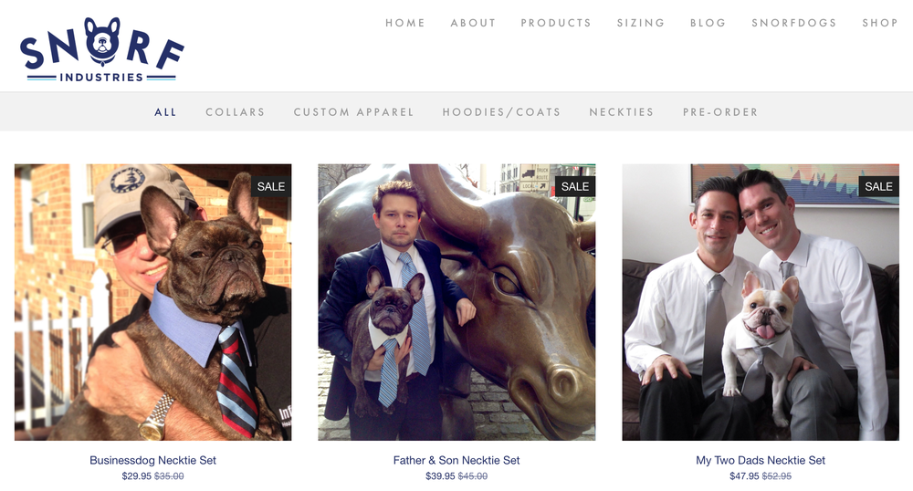 A screenshot of our new Online Store! (A work in progress...)