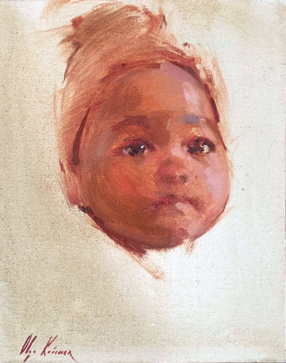 Cheeks - oil, 6x8Contact the Artist