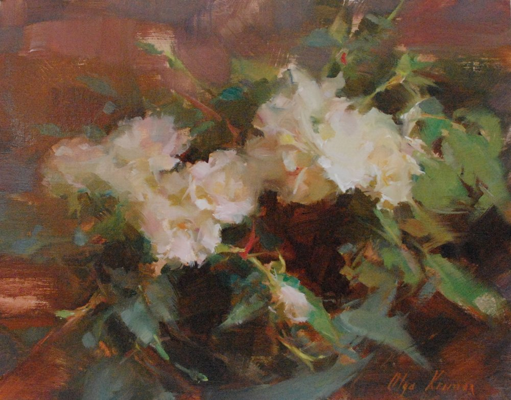 White Arrangement - oil, 11x14Available through Vanessa Rothe Fine Art