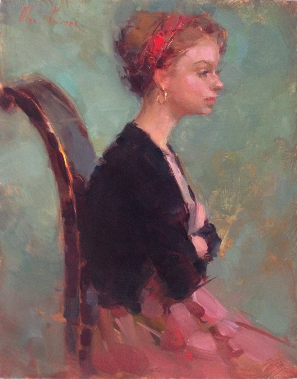 Profile - oil, 11x14Available through Vanessa Rothe Fine Art