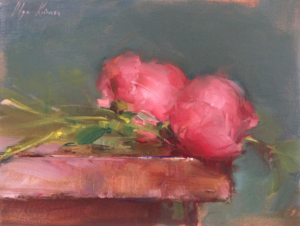 Peonies - oilSOLD through Vanessa Rothe Fine Art