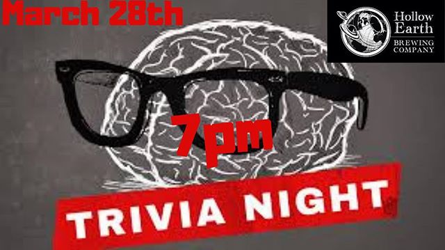 Join us tonight at 7pm for trivia :)