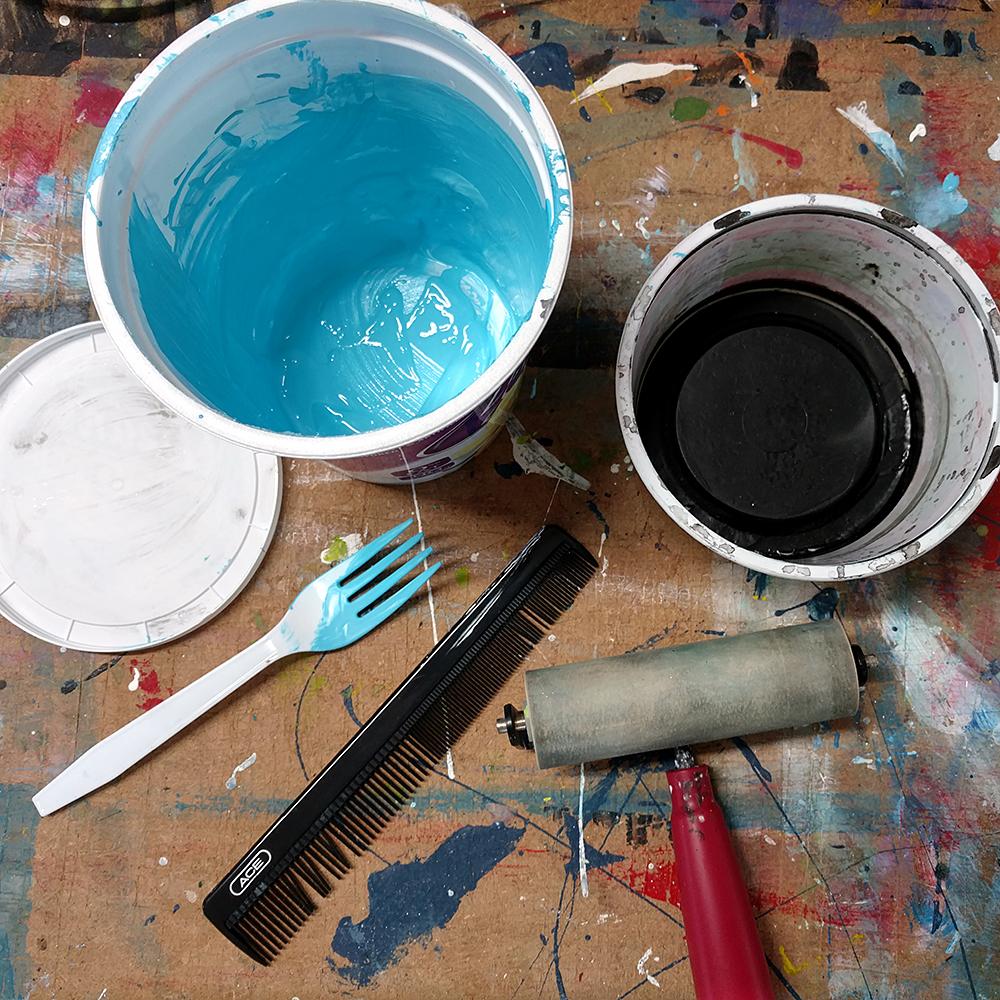It's not always a paint brush