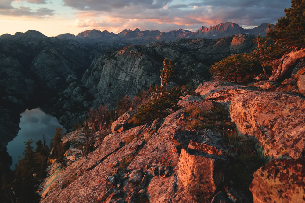 Sunset over the Wind River Range, Wyoming
