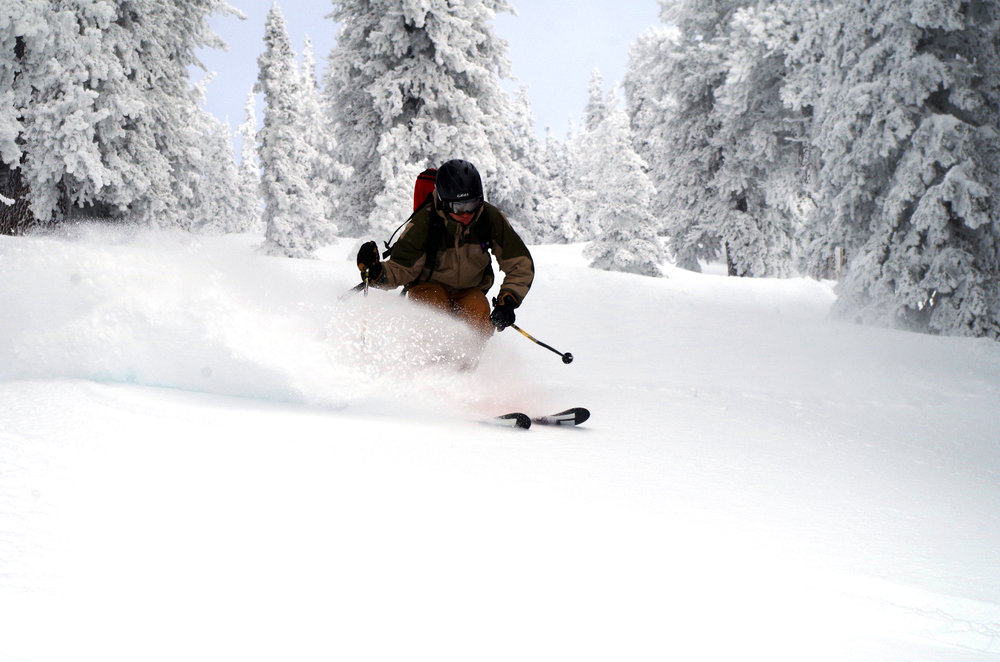 Powder skiing on the San Francisco Peaks, Arizona