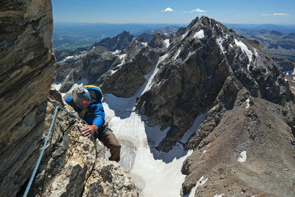 Climbing Exum Ridge, Grand Teton National Park, Wyoming