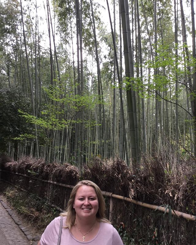 Lost in the #bamboo forest today. 🎋 #japan #kyoto #bamboo #enchantedforest