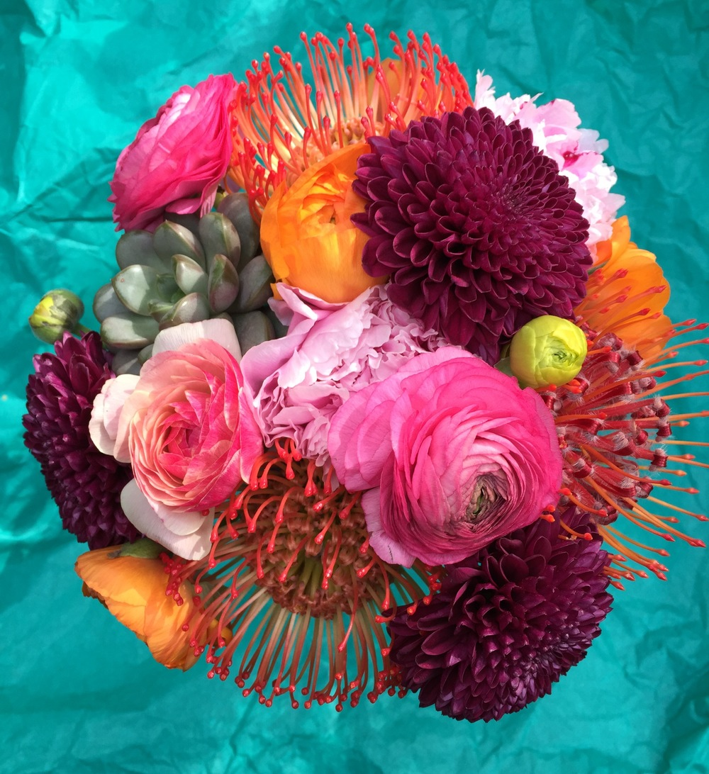 Pincushion Protea Boho Bouquet