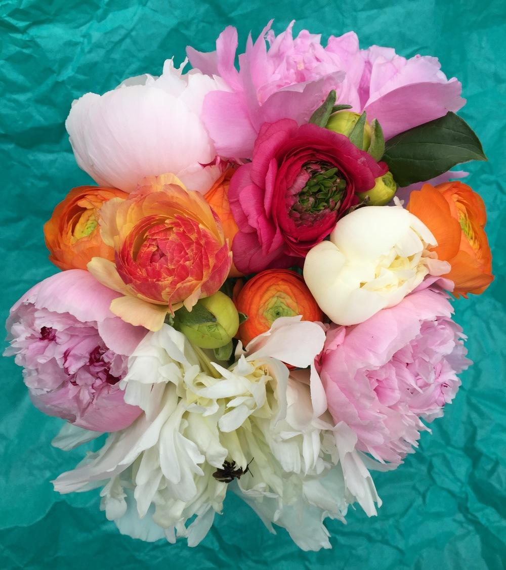 Pink Peony Boho Bouquet