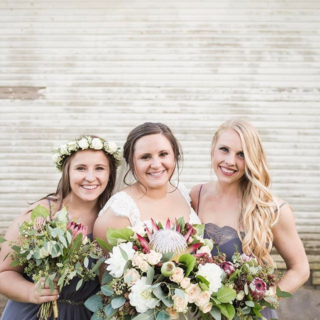 Our gorgeous bride Keely & two of her maids.