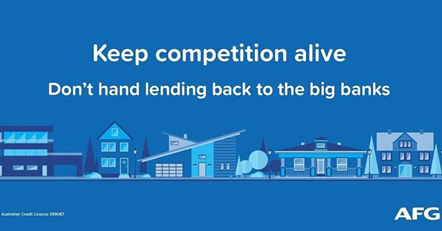 Don't hand the power back to the big banks!  Visit www.keepcompetitionalive.com.au today and join me in sending a message to your local politicians and keep competition alive. We need your support now for mortgage brokers, small businesses, increased competition and downward pressure on interest rates.  #keepcompetitionalive